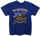 24 Units of Blue T Shirt Second Amendment Assorted Sizes - Mens T-Shirts