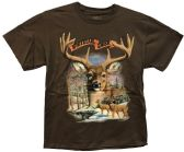 24 Units of Brown T Shirt Whitetail Deer Assorted Sizes