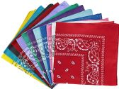 120 Units of BANDANAS - ASSORTED COLORS