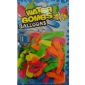 72 Units of 80 COUNT WATER BALLOONS WITH FILLER CAP