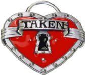 24 Units of Heart Taken Belt Buckle - Belt Buckles