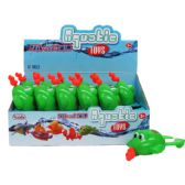 "72 Units of 6"" PULL STRING WATER TOYS(FROG) IN 12PC DISPLAY BOX"
