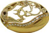24 Units of Golden Designer Belt Buckle - Belt Buckles