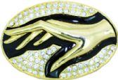 24 Units of Golden Hand Belt Buckle