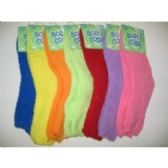144 Units of WOMEN'S FUZZY SLIPPER SOCKS - Womens Slipper Sock