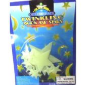 108 Units of GLOW IN THE DARK MOON&STARS