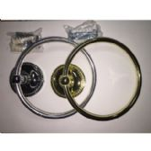 48 Units of BRASS AND SILVER TOWEL RINGS