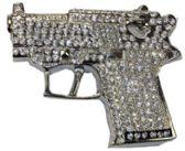 12 Units of Rhinestone Gun Belt Buckle - Belt Buckles