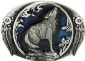 24 Units of Wolf Belt Buckle - Belt Buckles
