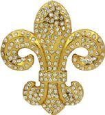 24 Units of Fleur De Lis Belt Buckle - Belt Buckles