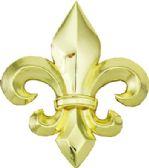 24 Units of Golden Fleur De Lis Belt Buckle - Belt Buckles