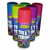 72 Units of ASSORTED COLOR SILLY STRING - Party Favors