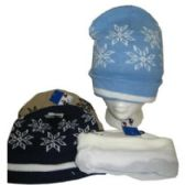 96 Units of FLEECE LINED SNOWFLAKE WINTER HAT