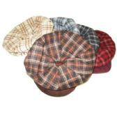 72 Units of WOMEN'S PLAID WINTER HATS WITH BRIM - Fedoras, Driver Caps & Visor