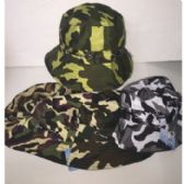 72 Units of ASSORTED CAMO BUCKET HATS - Bucket Hats