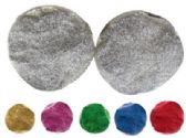 72 Units of Clip Earrings Assorted color glitter round button style clip earrings - Earrings