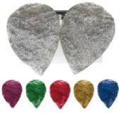 72 Units of Clip Earrings Assorted color glitter teardrop shape clip earrings - Earrings