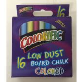 96 Units of 16 CT. COLORED CHALK - Chalk,Chalkboards,Crayons