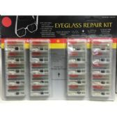 60 Units of EYEGLASS REPAIR KIT - Eyeglass & Sunglass Cases