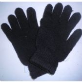 144 Units of BLACK KNIT GLOVES FOR ADULTS