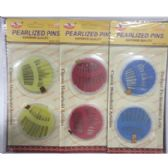72 Units of PEARLIZED SILVER NEEDLE PINS - Sewing Needles/Sets