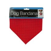 72 Units of Printed Dog Bandana with Snap Closure - Pet Accessories