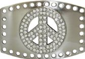 24 Units of Peace Sign Belt Buckle - Belt Buckles