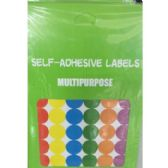 72 Units of SELF-ADHESIVE ROUND LABELS - MIXED COLORS - Labels ,Cards and Index Cards