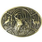 24 Units of Deer Hunting Belt Buckle - Belt Buckles