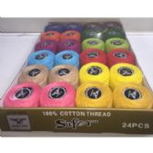 48 Units of SPOOLS OF THREAD 24 ASSORTED COLORS - Sewing Thread