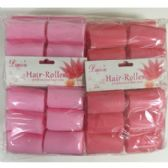 48 Units of FOAM HAIR ROLLERS 6 PACK
