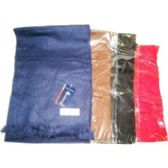 72 Units of MEN'S SOLID COLOR SCARVES - Winter Scarves