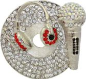 24 Units of DJ Headphone Belt Buckle - Belt Buckles
