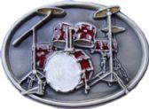 24 Units of Drumset Belt Buckle - Belt Buckles