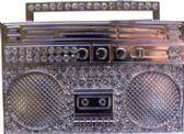 24 Units of Rhine Stone Silver Tape Belt Buckle - Belt Buckles
