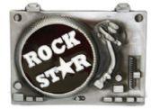 24 Units of Rock Star Belt Buckle - Belt Buckles