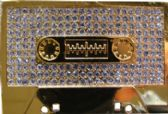 24 Units of Rhine Stone Gold Cassette - Belt Buckles
