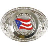 24 Units of Oversized Puerto Rico Belt Buckle - Belt Buckles