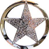 24 Units of Oversized Rhinestone Star Belt - Belt Buckles