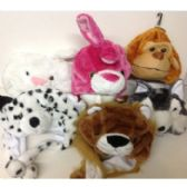 48 Units of CHILDREN'S ANIMAL CHARACTER FLEECE HATS