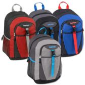 24 Units of 18 Inch Clip Pocket Backpacks With Padding- Boys