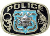 12 Units of Police Belt Buckle - Belt Buckles