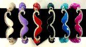 60 Units of Mustache Bracelet assorted colors