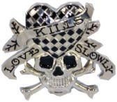 24 Units of Heart Skull - Belt Buckles