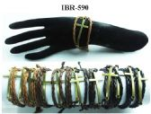60 Units of Leather bracelet with metal Cross