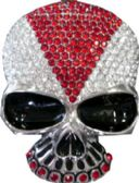 24 Units of Skull Rhinestone Belt Buckle - Belt Buckles