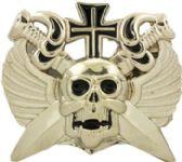 24 Units of Crossed Swords Skull - Belt Buckles