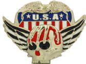 24 Units of American Skull Belt Buckle - Belt Buckles