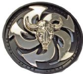24 Units of Bull Head Spinner Belt Buckle - Belt Buckles