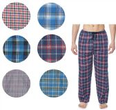 36 Units of Men's Cotton Pajama Bottoms In Assorted Plaid Patterns And Assorted Sizes - Mens Pajamas
